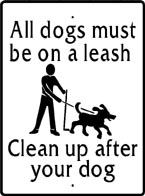 Dog on a Leash Sign