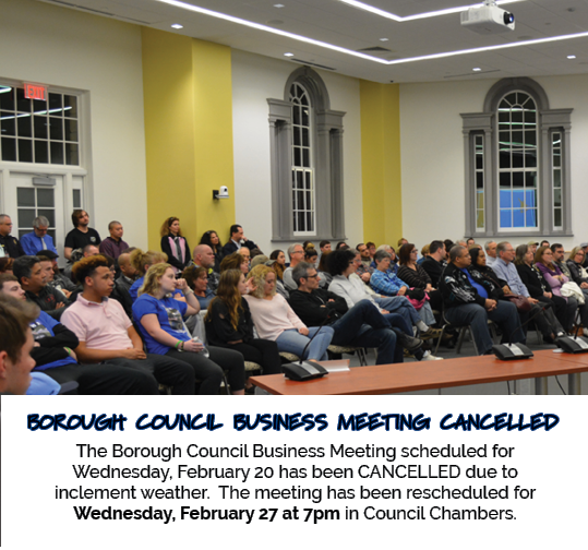 2.20 Council Meeting Cancelled