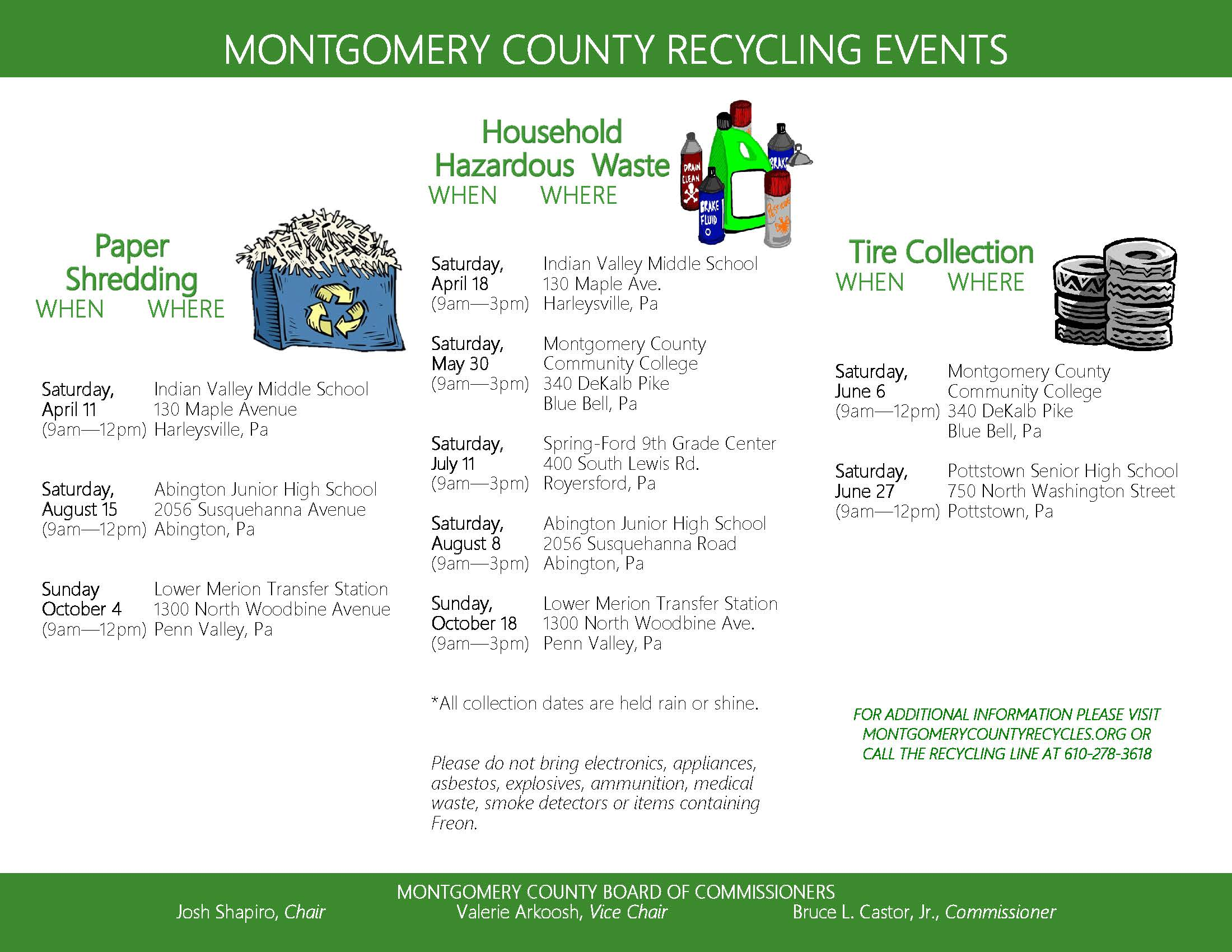 Recycling Dates Flyer